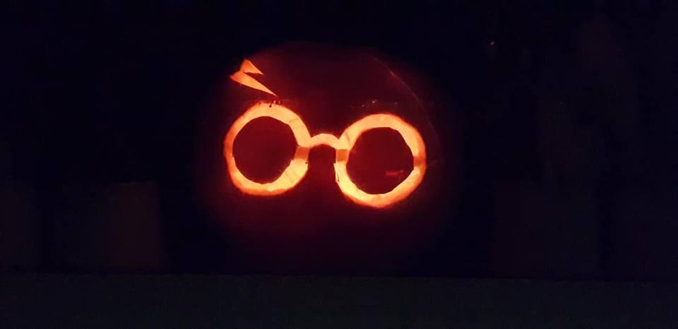 Ella's Harry Potter pumpkin