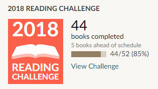 Goodreads 2018 reading challenge - 44 books read