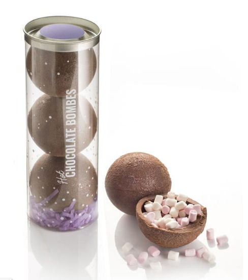 Luxury hot chocolate bombs from Find Me A Gift