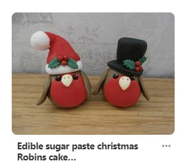 sugar paste robins