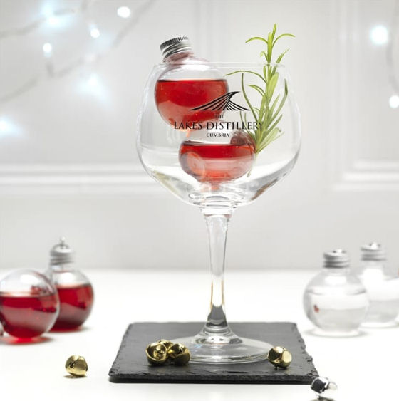 Gin filled baubles from Find Me A Gift