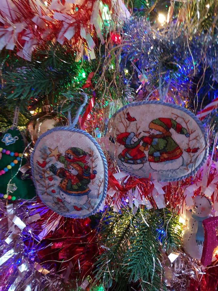 KayCee and Ella's Christmas tree decoratons