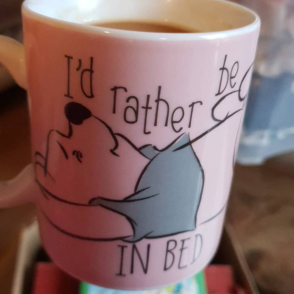 another coffee, this time in my winnie the pooh mug