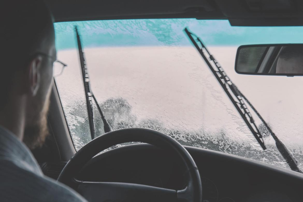 check your windshield wipers and wiper fluid