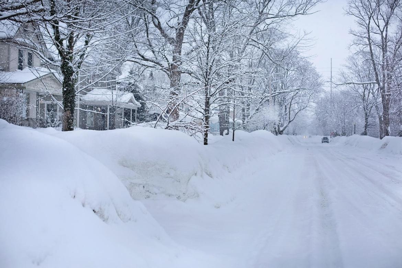 snowy street - boiler care in Winter