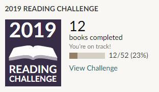 Goodreads 2019 reading challenge 12 books read