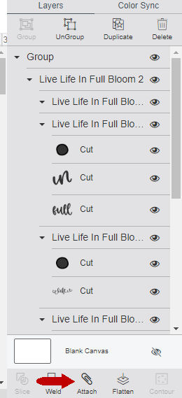 select all layers and click attach