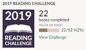 Goodreads 2019 reading challenge 22 books read