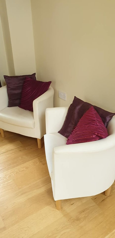 comfy chairs in the bedroom