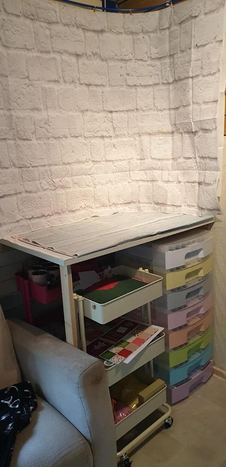 New studio - photo staging corner