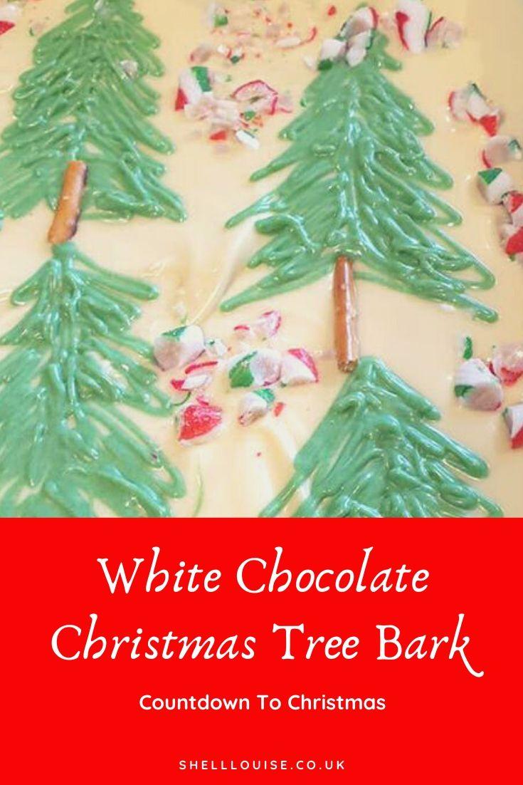 white chocolate Christmas tree bark