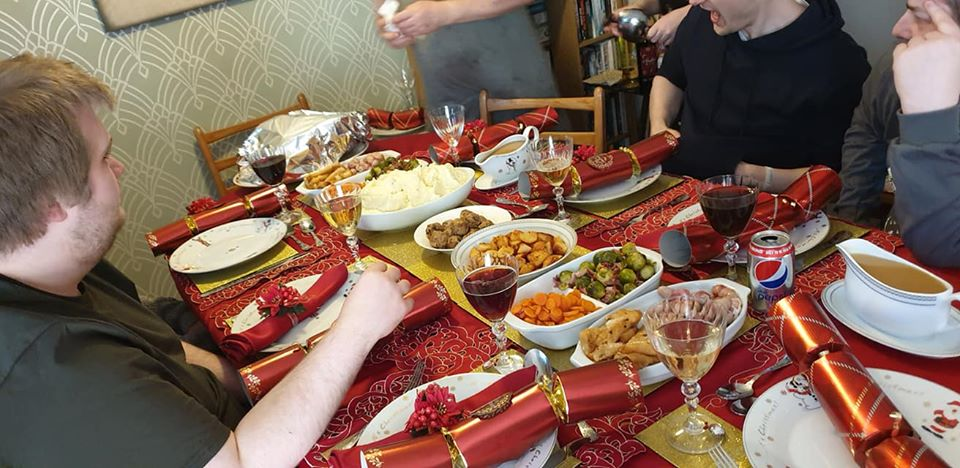 Delicious Christmas dinner cooked by the super wonderful husband