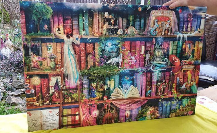Treasure Hunt Bookcase canvas