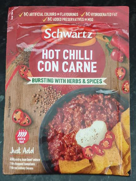 Schwartz chilli con carne recipe mix