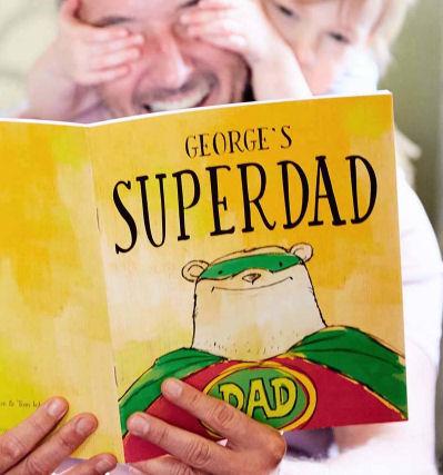 Personalised Superdad book