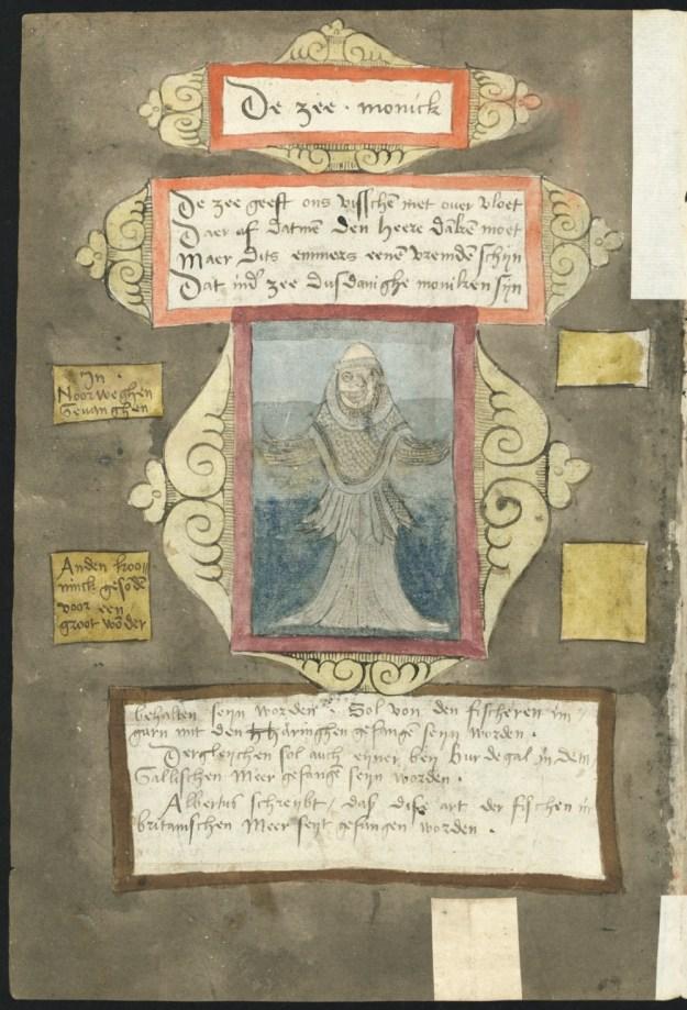 De zeemonnik op folio 187 verso van het Visboeck