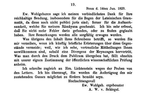 Schlegel to Bopp 14 June 1829