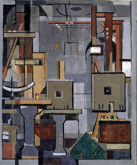 8Harm Kamerlingh Onnes, Het laboratorium van Heike Kamerlingh Onnes, 1920 (Stedelijk Museum De Lakenhal, Leiden)
