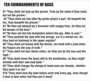 Commandments of Bass
