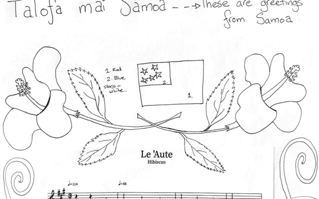 Le 'Aute – Samoan Song & Colouring In