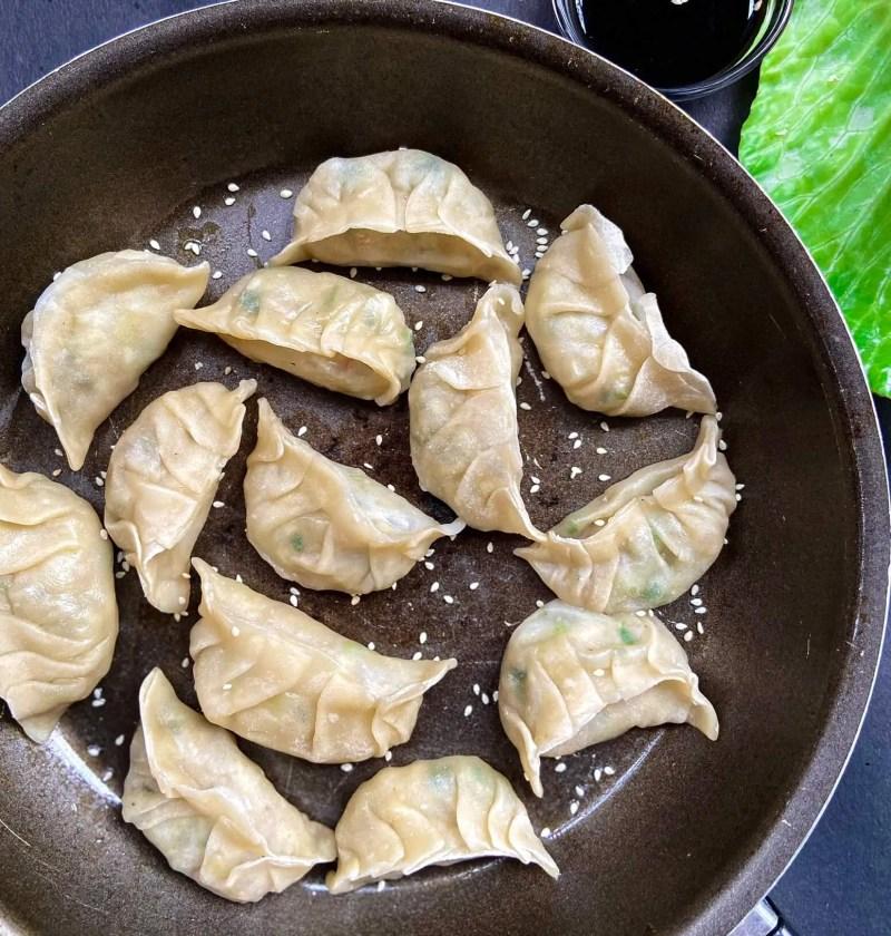 How to make vegetarian potstickers (pan fried dumplings) 2