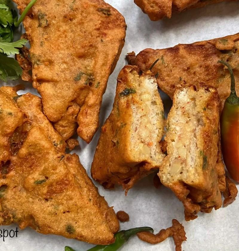 Potato stuffed bread fritters