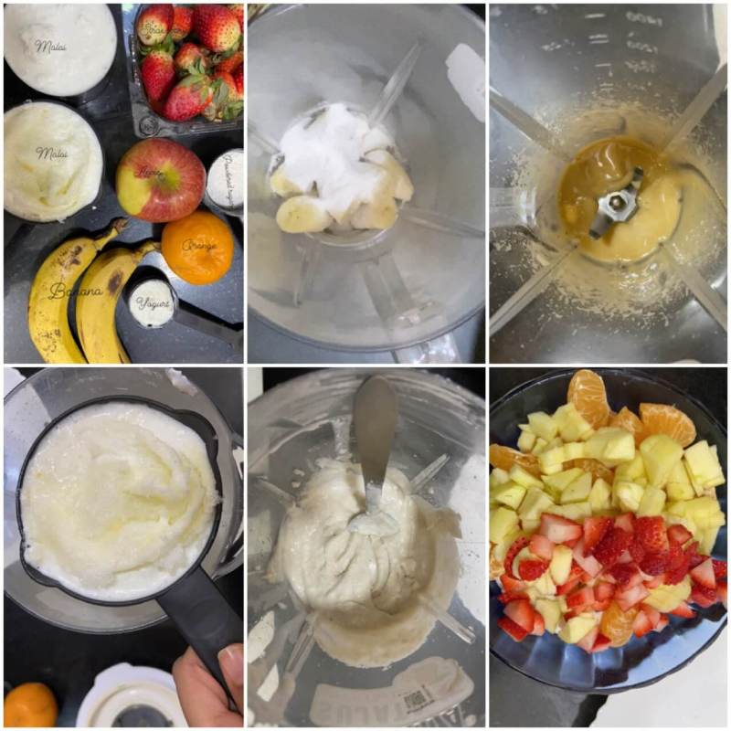 How to make fruit cream|fruit cream with malai 3