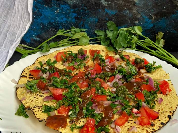 2 ways to make masala papad|papad salad|papad chaat