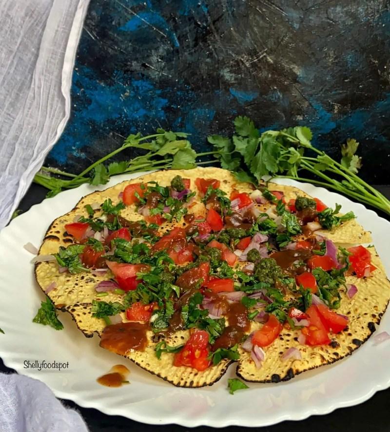 2 ways to make masala papad papad salad papad chaat