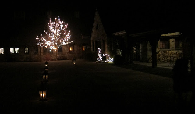 Blue Hill at Stone Barns at night, it's DARK outside the city!!
