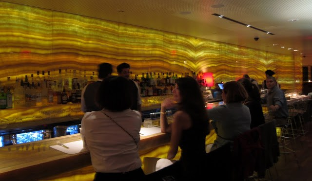 The relatively empty bar area at Marea