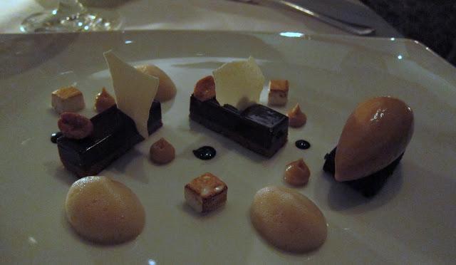 S'mores - Dark Chocolate Torte, Vanilla Marshmallow, Candied Virginia Peanuts and Carmel Ice Cream