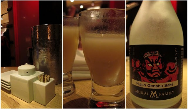 House-made soy sauce and our Nigori Sake, my favorite