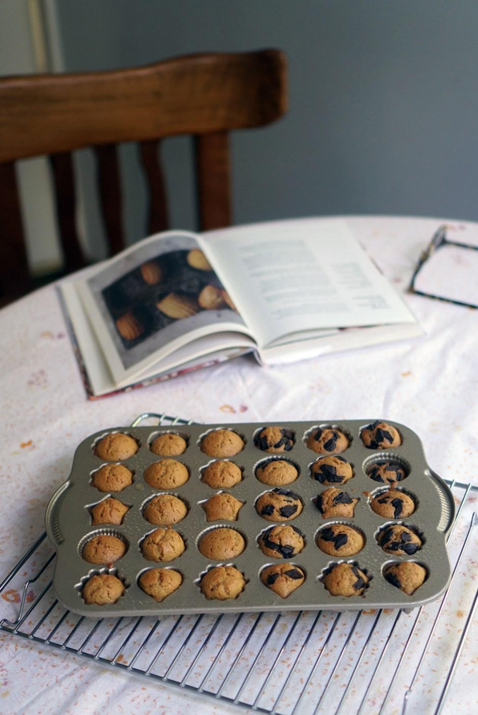 Orange & chocolate madeleines