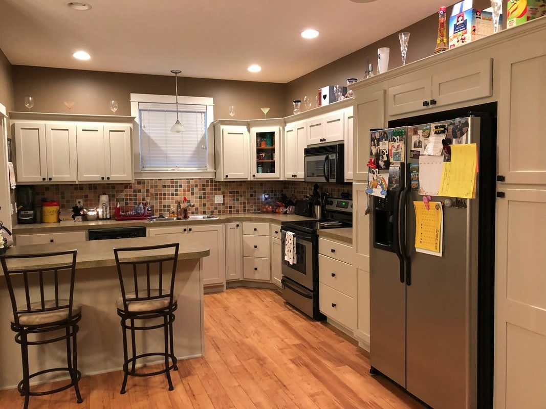 Kitchen Cabinet Refinishing Before After Shelly S