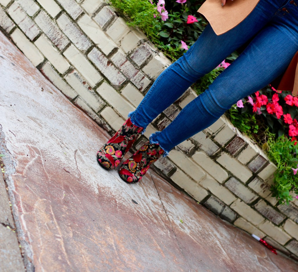 Patterned Fall Booties
