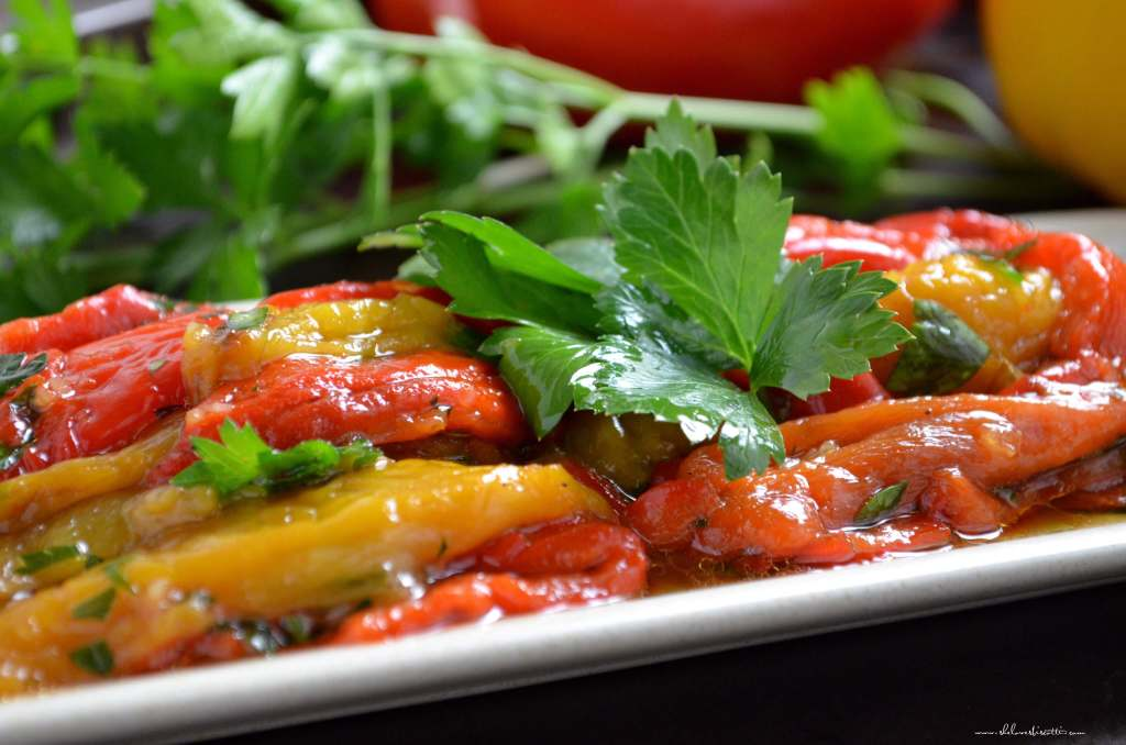 Marinated Roasted Bell Peppers