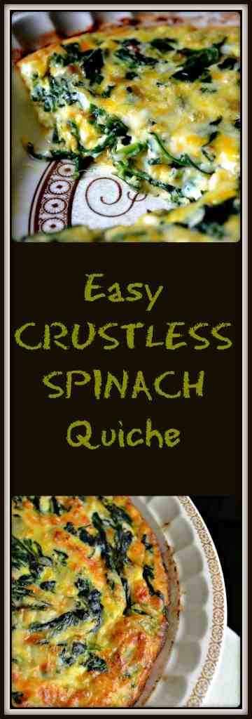 Simple Easy Crustless Spinach Quiche