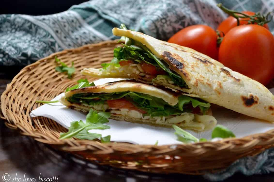 Ready to be served piadina sandwich.
