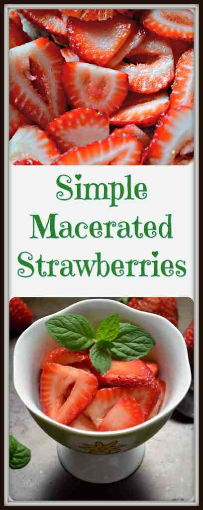 Simple Macerated Strawberries