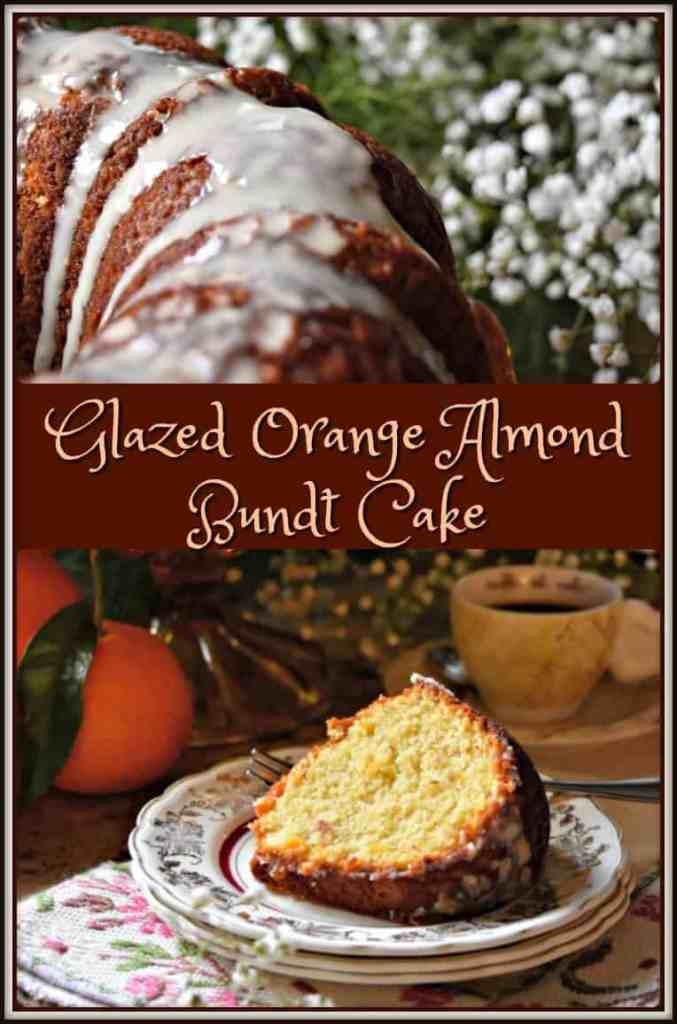 Glazed Orange Almond Bundt Cake