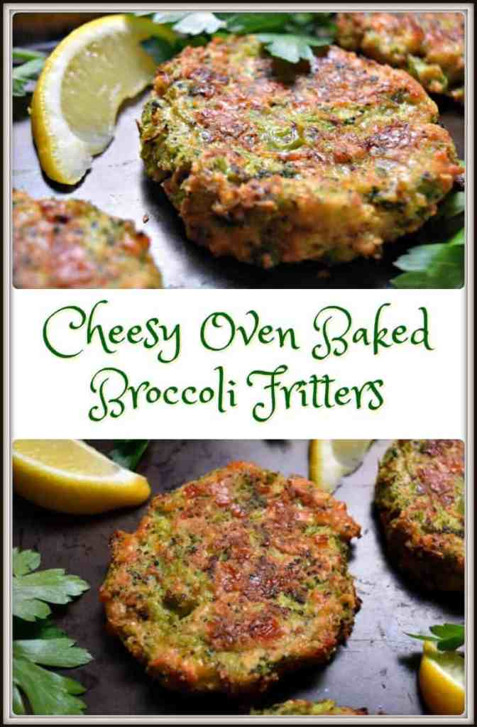 Cheesy Oven Baked Broccoli Fritters (1)