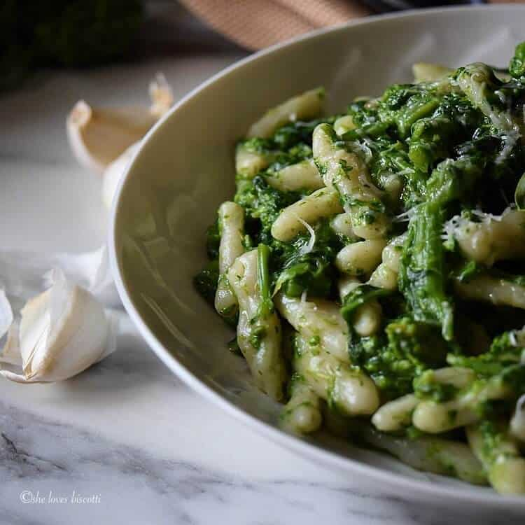 Homemade Italian Broccoli Rabe Cavatelli Pasta