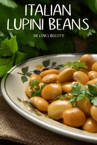 A plate of Italian Lupini beans,