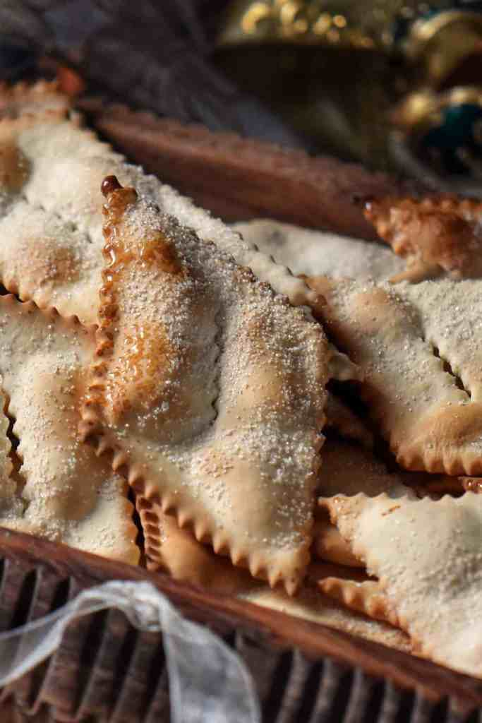 Air fryer Italian Cookies in a wooden bowl.