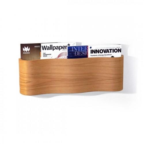 wooden magazine rack wall mount