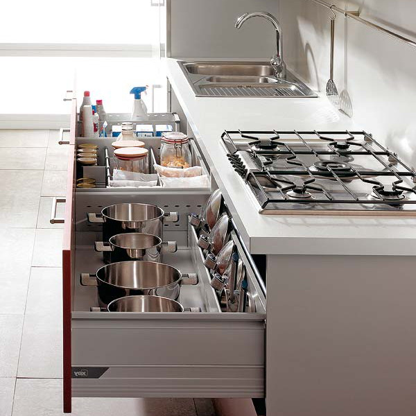 Pull Out Kitchen Drawers Shelves Under Cooktop