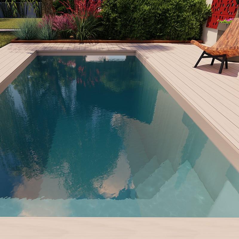 mini coque piscine polyester lara avec bloc filtrant
