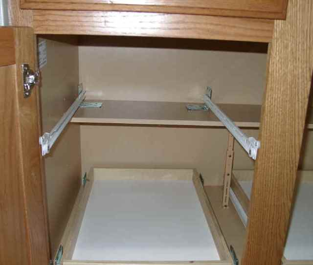 Do It Yourself Installing Pull Out Shelves Sliding Shelf Install Measuring Guide