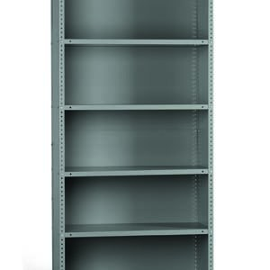 Bolted steel shelving bay - Clad bay 75in high, 6 shelves